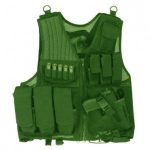 Drago Gear Tactical Vest in Mesh Net Green - Most Size Fits Most