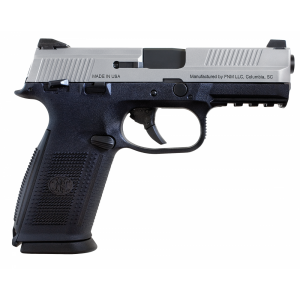 """FN Herstal FNS-9 9mm 10+1 4"""" Pistol in Stainless Steel (Manual Safety) - 66930"""