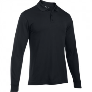 Under Armour Performance Men's Long Sleeve Polo in Black - 2X-Large