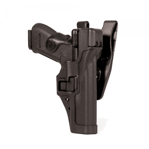 Blackhawk Level 3 Serpa Right-Hand Belt Holster for Glock 17 in Black - 44H100BW-R