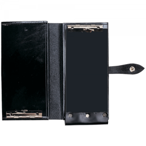 Aker Leather 581 Double Citation Book Cover in Black Plain - A581-BP