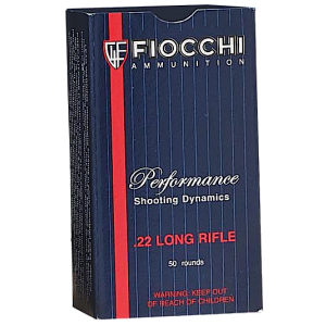 Fiocchi Ammunition Shooting Dynamics .22 Long Rifle Subsonic Hollow Point, 40 Grain (50 Rounds) - 22FHPSUB