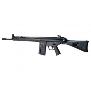 """Ptr Industries Ptr-91 Classic Black, Semi-automatic Rifle, 308 Win, 18"""" Barrel, Black Finish, Fixed Stock, 1 Magazine, 20rd, Slimline Polymer Handguard, Removable 5/8x24 Flash Hider, Paddle Mag Release Ptr108"""