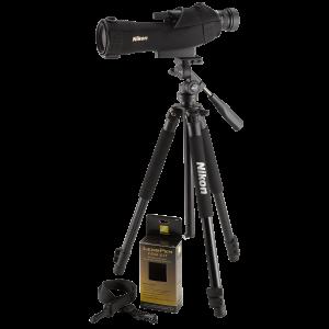 "Nikon Prostaff 14.5"" 16-48x60mm Spotting Scope in Black - 6981"