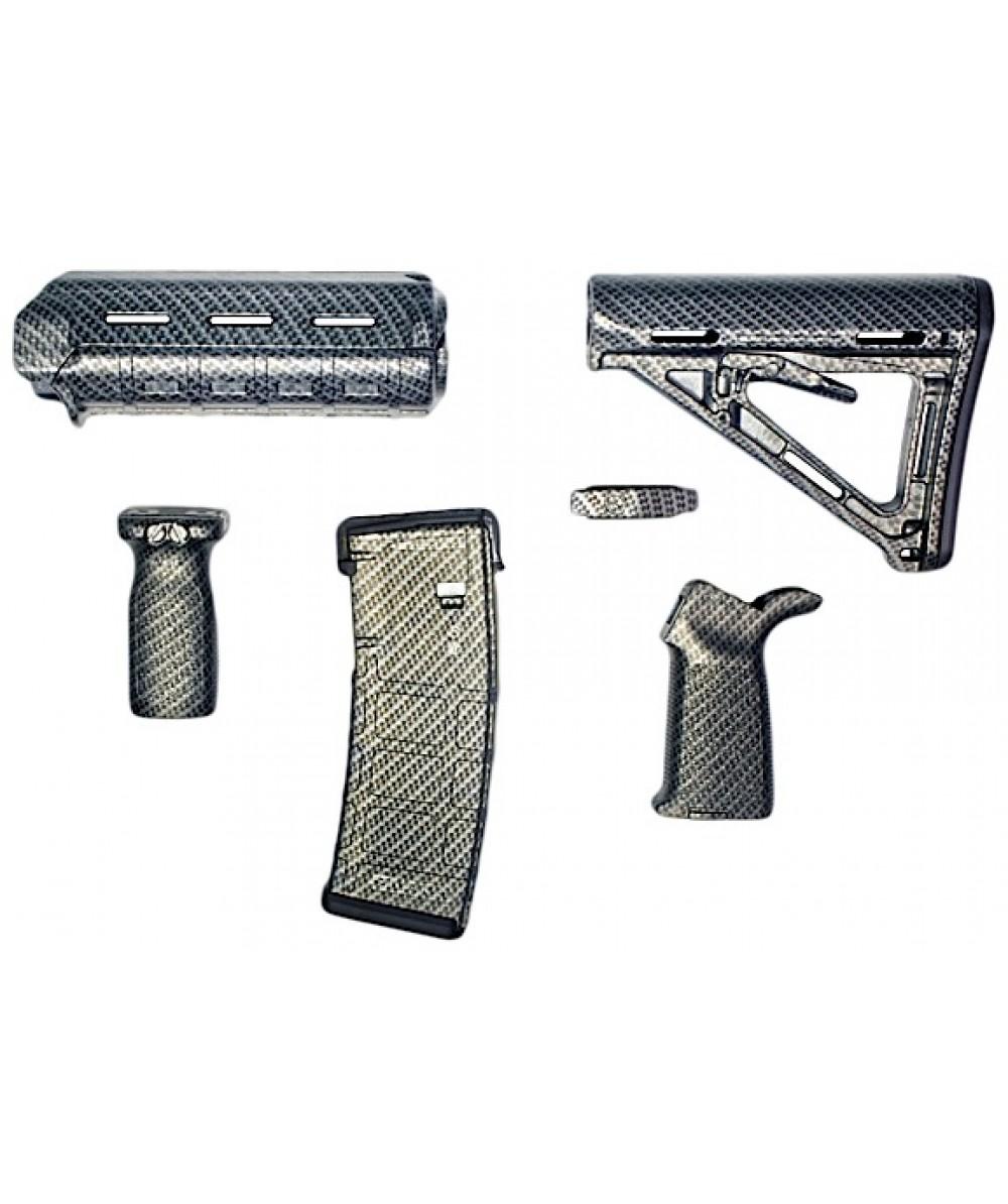 Matrix Diversified Ind Magpul ComSpec AR-15 Furniture Kit Carbon Fiber