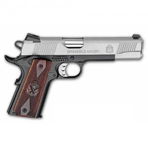 "Springfield Service Lightweight .45 ACP 7+1 5"" 1911 in Stainless Slide/Black Frame - PX9104LP"