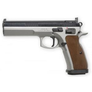 """CZ 75 TS 9mm 10+1 5.4"""" Pistol in Wood - 1172"""