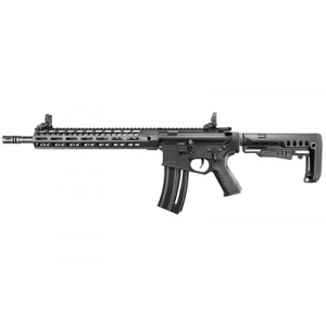 """Walther Tac R1, Semi-automatic, Ar, 22 Lr, 16.1"""" Threaded Barrel, Black Finish, Mft Minimalist Stock, M-lok Handguard, Front/rear Flip Sights, 20rd 5760500"""