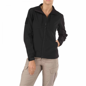 5.11 Tactical Sierra Softshell Women's Full Zip Jacket in Black - Medium