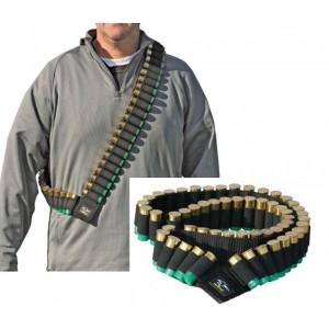 Galati Gear Shotgun Shell Bandolier - Black Securely Holds 56 - 12, 16 or 20 Gauge Shells GLB56