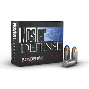 Nosler Bullets Performance Bonded 9mm Hollow Point, 124 Grain (20 Rounds) - 38432