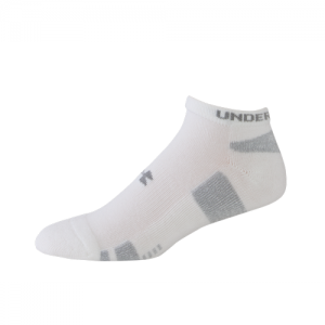 UA HeatGear Trainer NoShow 3 Pack Color: White Size: Medium