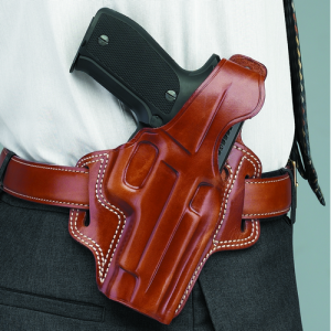 "Galco International Fletch High Ride Right-Hand Belt Holster for Colt Agent in Black (2"") - FL118B"