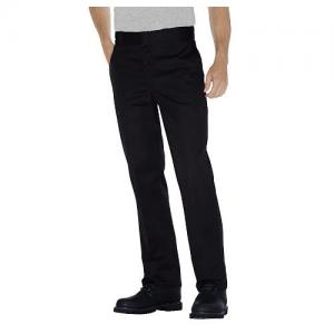Dickies Plain-Front Work Pant Men's Uniform Pants in Black - 30 x 32