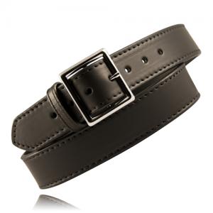 Boston Leather Fully Lined Garrison Belt in Black Plain - 42