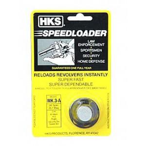 Hks Speedloader, 357 Magnum, Fits Colt K Frame, Cobra, Ruger Security 6, Black M3a