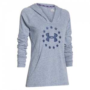 Under Armour Freedom Triblend Women's Pullover Hoodie in Carbon Heather - Large