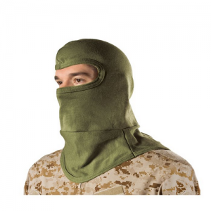 HellStorm  Balaclava -Bibbed w  Balaclava 3oz 18  w/Nomex, Olive Drab, Flame/flash protection for the head and neck, Constructed entirely of DuPont NOMEX fabric, Will not support flame or combust up to 800  F (427 C), Flat-seam stitching wont irritate whe