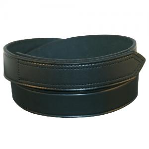 Boston Leather Velcro Tip Garrison Belt in Black Plain - 48