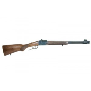 """Chiappa Double Badger .22 Winchester Magnum/.410 Gauge 2-Round 19"""" Over/Under Rifle in Blued - 500-111"""