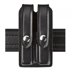 Boston Leather Off Duty Ranger Belt in Black Plain