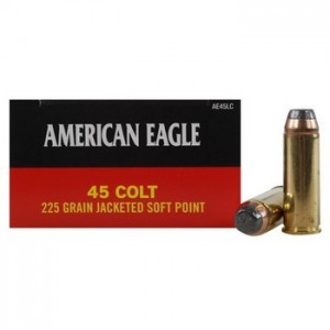 Federal Cartridge American Eagle .45 Colt Jacketed Soft Point, 225 Grain (50 Rounds) - AE45LC