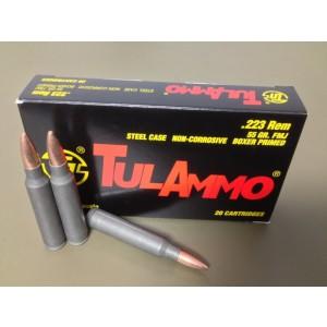 TulAmmo .223 Remington/5.56 NATO Full Metal Jacket, 55 Grain (20 Rounds) - TA223550