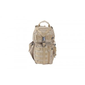 """Allen Lite Force Tactical Sling Pack, Tan Endura Fabric, Sling Design, Padded Adjustable Single Shoulder Strap, Conceal Carry Compatable, Large Main Compression Strap, Water Bottle And Sunglasses Pockets, Hydration Compatible, 18""""x9.75""""x7.5"""", 1200 Cubic I"""