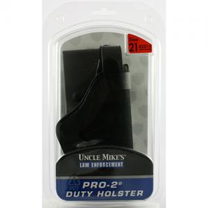 Uncle Mike's Duty Right-Hand Belt Holster for Glock 17, 19, 22, 23, 31, 32, 36 in Black Kodra Nylon - 43211