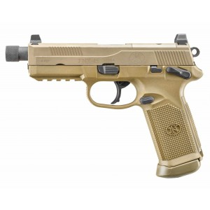 "FN Herstal FNX-45 Tactical .45 ACP 15+1 5"" Pistol in Flat Dark Earth (Cold Hammer-Forged Threaded Barrel) - 66968"