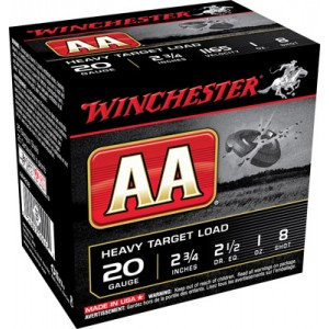 "Winchester AA .20 Gauge (2.75"") 8 Shot Lead (250-Rounds) - AAH208"