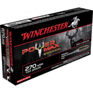 Winchester Super-X .270 Winchester Power Max Bonded, 130 Grain (20 Rounds) - X2705BP