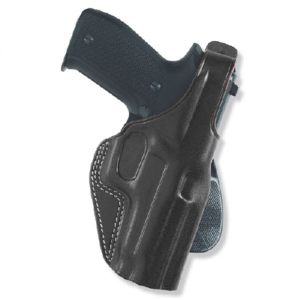Galco International PLE Unlined Right-Hand Paddle Holster for Walther PPK in Black - PLE204B