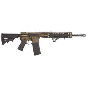 "LWRC Direct Impingement .223 Remington/5.56 NATO 30-Round 16.1"" Semi-Automatic Rifle in Burnt Bronze - ICDIR5BB16"