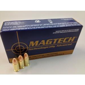 Magtech Ammunition Sport 9mm Full Metal Jacket, 124 Grain (50 Rounds) - 9B