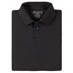 5.11 Tactical Utility Men's Short Sleeve Polo in Black - X-Large