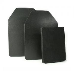 Level 4 Stand Alone 6 x 8 ball  Level 4 Stand Alone 6 x 8 ballistic ceramic plate, Black