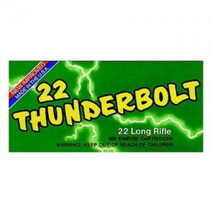 Remington Thunderbolt .22 Long Rifle Round Nose, 40 Grain (500 Rounds) - TB22B