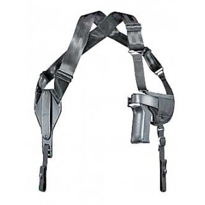 """Uncle Mike's Horizontal Ambidextrous-Hand Shoulder Holster for Large Autos in Black (5"""") - 8705-0"""