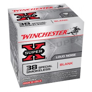 Winchester 38 Special Black Powder Blanks 50 Count Box 38SBLP