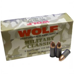 Wolf Performance Ammo Military Classic 9X18 Makarov Full Metal Jacket, 95 Grain (1000 Rounds) - MC918FMJ