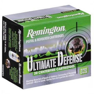 Remington Ultimate 9mm Brass Jacket Hollow Point, 124 Grain (20 Rounds) - HD9MMBN