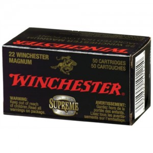 Winchester 22 Magnum Supreme Jacketed Hollow Point 34 Grain 50 Round Box S22WM