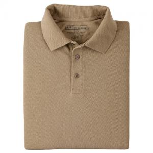 5.11 Tactical Utility Men's Short Sleeve Polo in Silver Tan - Medium