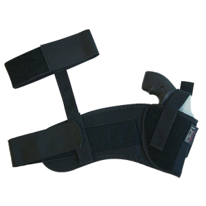 """Uncle Mike's Ankle Left-Hand Ankle Holster for Small 5-Shot Revolvers in Black (2"""") - 8820"""
