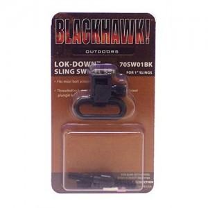 """BlackHawk 1"""" Blue Lock Down Sling Swivels w/Wood Screws 70SW04BK"""