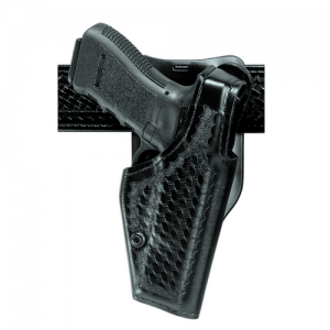 "Safariland 2005 Top Gun Low-Ride Level 1 Retention Right-Hand Belt Holster for Colt Combat Elite in Hi-Gloss Black (5"") - 2005-53-91"