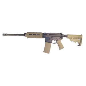 "High Standard HSA-15 Custom .223 Remington/5.56 NATO 30-Round 16"" Semi-Automatic Rifle in Black/FDE - R6551FDE"