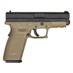 "Springfield XD .45 ACP 13+1 4"" Pistol in Black Slide/Dark Earth Frame - XD9261HCSP06"