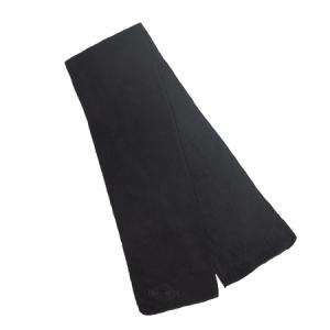 Black Microfleece Scarf 100% Polyester Microfleece Size: N/A